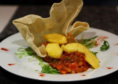 piatto con cibo africano